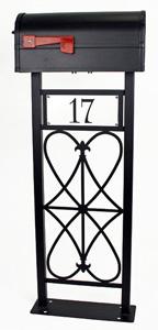 Heraldry Mailbox Stand by Trellis Art Designs