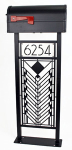 Wright Mailbox Stand by Trellis Art Designs
