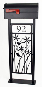 Star Grass Mailbox Stand by Trellis Art Designs