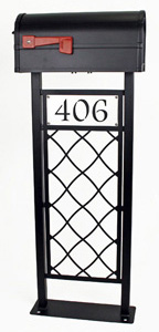 Lattice Mailbox Stand by Trellis Art Designs