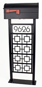 Modernism Mailbox Stand by Trellis Art Designs