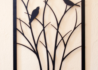 Birds on Shrub by Trellis Art Designs