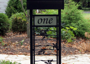 Baby Sea Turtles Custom Mailbox Stand by Trellis Art Designs