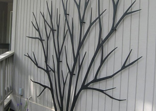 Bare Shrub Trellis T147 by Trellis Art Designs
