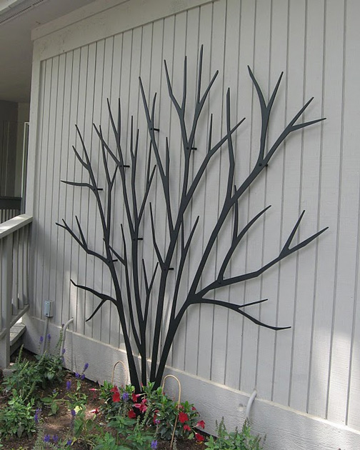 Bare Shrub Trellis Trellis Art Designs