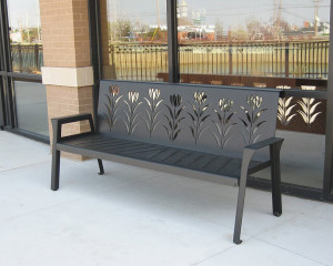 Bench Alt. View Town & Country Crossing by Trellis Art Designs