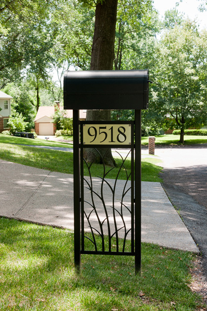 Branches Mailbox Stand by Trellis Art Designs