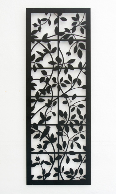 Clematis on Trellis by Trellis Art Designs