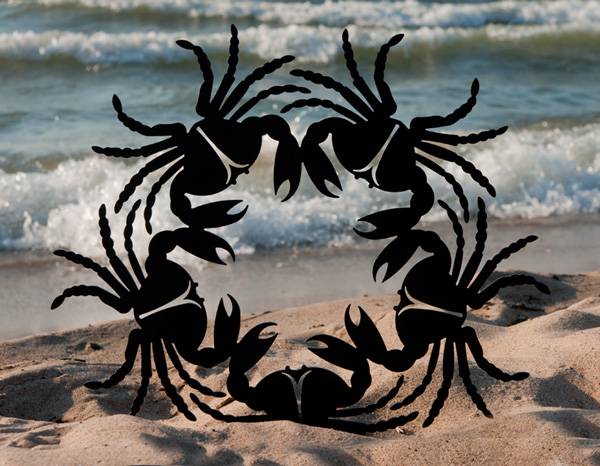 Crab Wreath I by Trellis Art Designs