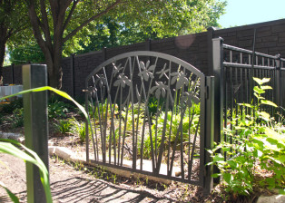 Iris Garden Gate by Trellis Art Designs