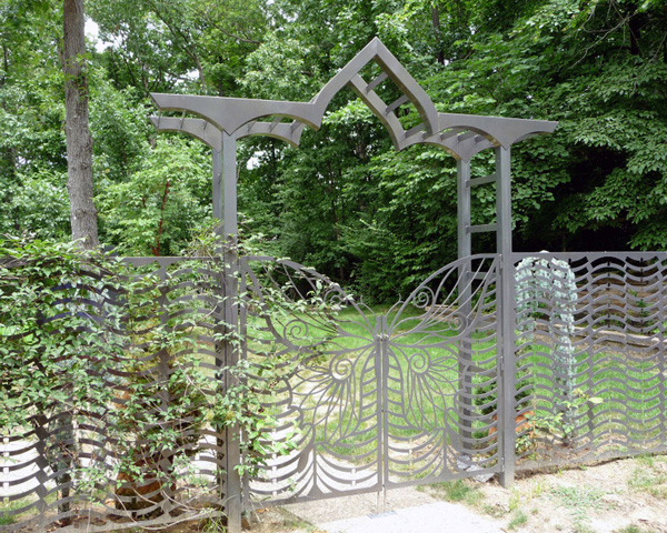 Butterfly Gate And Arbor Trellis Art Designs