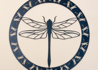 Dragonfly Encircled by Trellis Art Designs