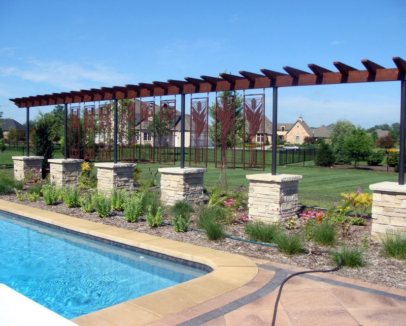 Pool Screen by Trellis Art Designs