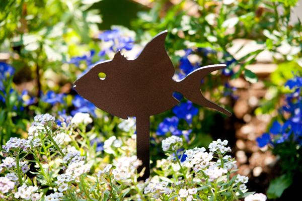 Fish Pot Stake by Trellis Art Designs