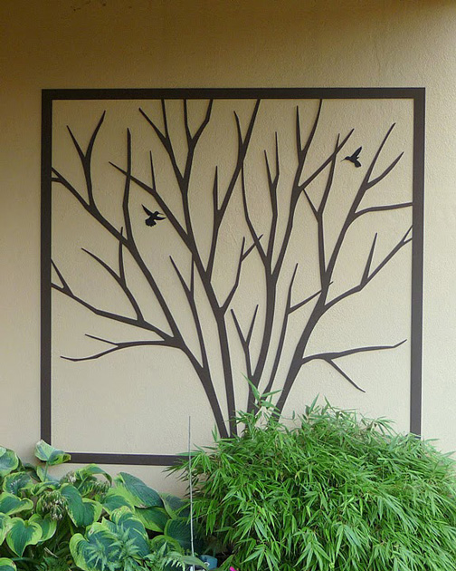 Framed Bare Shrub by Trellis Art Designs