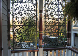 Clematis on Trellis Screens by Trellis Art Designs