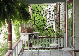 Trellis on Victorian Porch by Trellis Art Designs