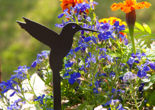 Hummingbird Stake by Trellis Art Designs