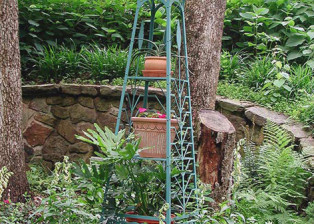 Garden Tower and Plant Stand by Trellis Art Designs