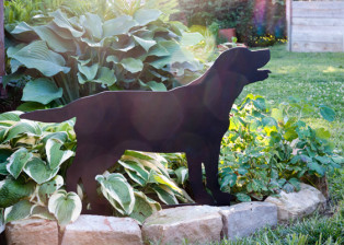 Labrador Puppy Stake by Trellis Art Designs
