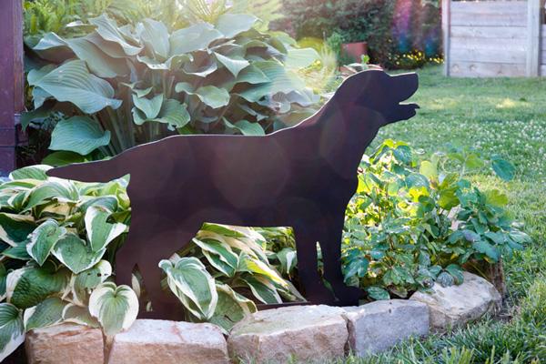 Labrador Puppy Stake by Trellis Art Designs
