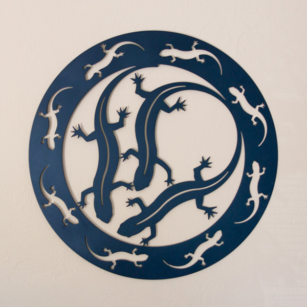"Salamanders Encircled 30"" by Trellis Art Designs"