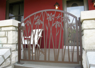 Iris Gate on Front Porch by Trellis Art Designs