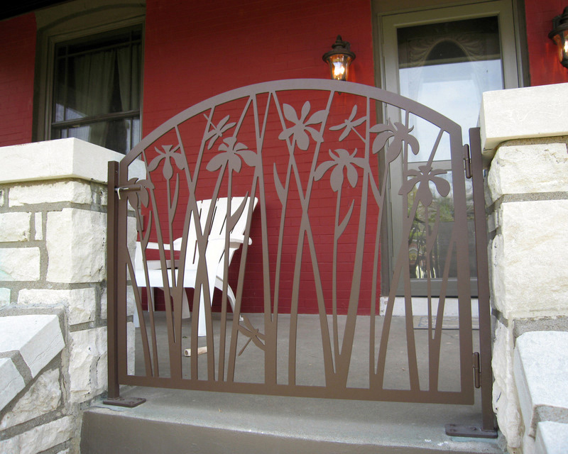 Iris Gate On Front Porch Trellis Art Designs