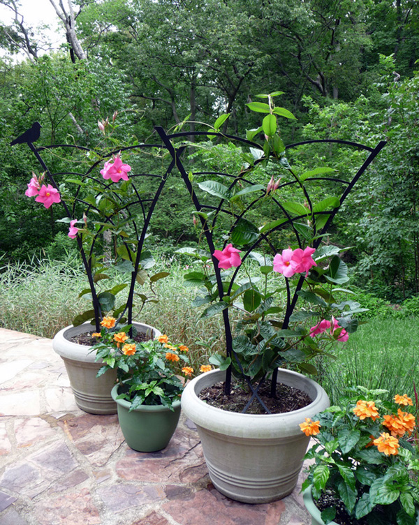 Small Tropical Trellis for pot or garden by Trellis Art Designs