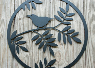 Bird in Circle by Trellis Art Designs