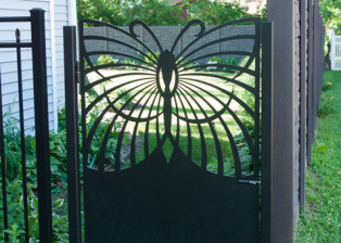 Single Butterfly Gate by Trellis Art Designs.