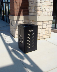 Waste Receptacle Town & Country Crossing by Trellis Art Designs