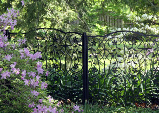 Azalea Fence Detail by Trellis Art Designs