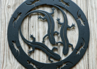 Salamanders Encircled by Trellis Art Designs