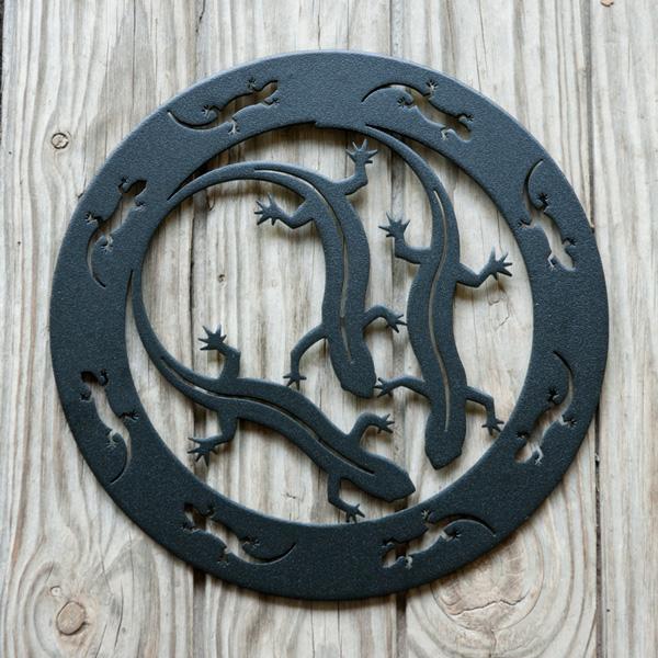 Salamanders Encircled by Trellis Art Designs