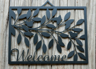 Welcome Plaque by Trellis Art Designs