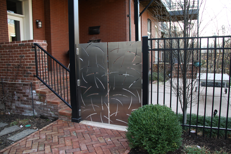 Romies Gates designed and made by Trellis Art Designs in St. Louis, MO.