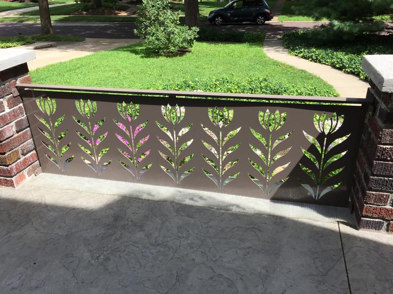 Flower railing detail