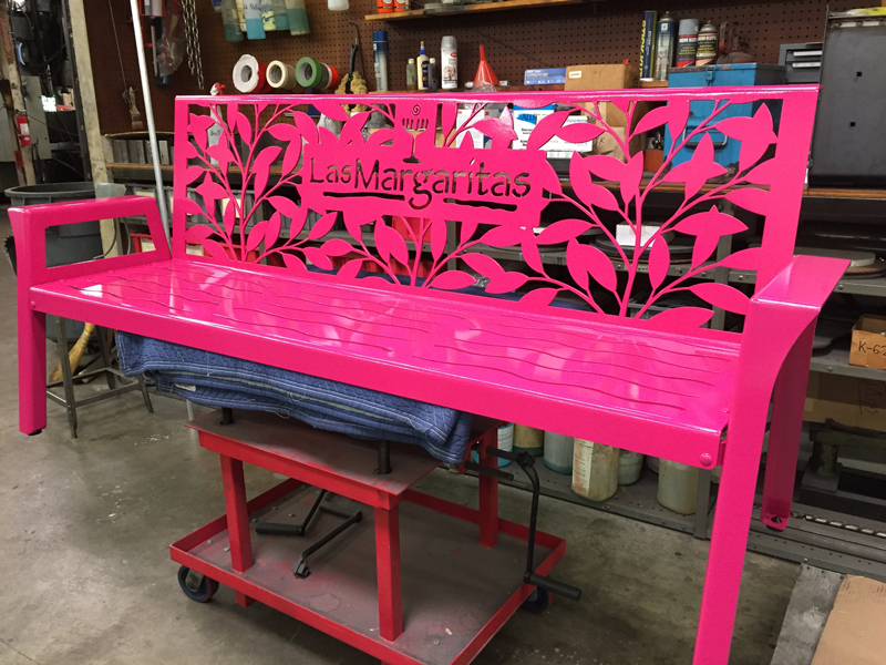 Las Margaritas Bench by Trellis Art Designs