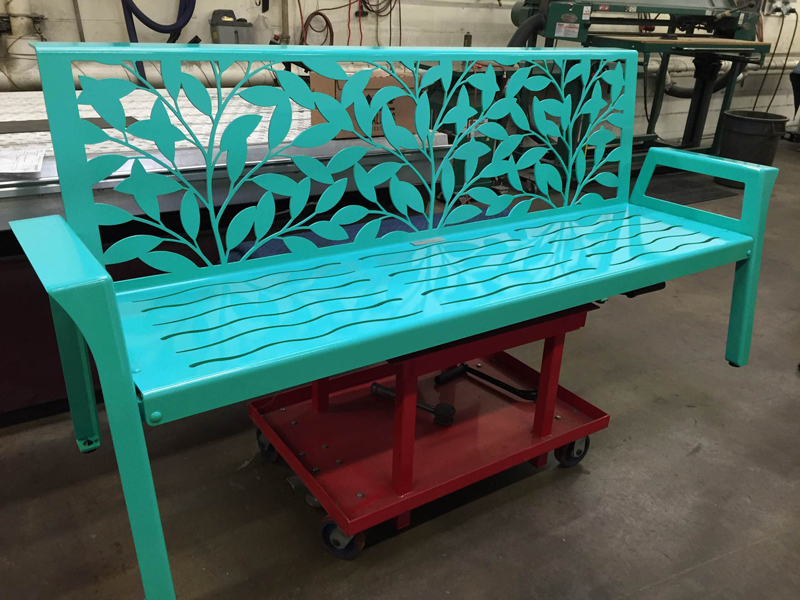 Turquoise Bench by Trellis Art Designs